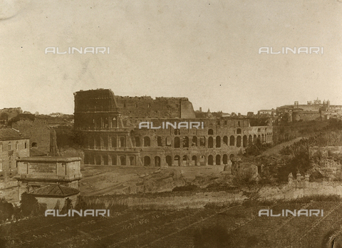 FVQ-F-040141-0000 - L'Anfiteatro Flavio o Colosseo a Roma - Data dello scatto: 1849 - Archivi Alinari, Firenze