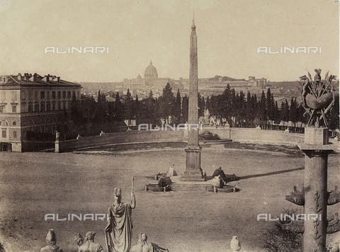 FVQ-F-040153-0000 - Piazza del Popolo a Roma - Data dello scatto: 1850 ca. - Archivi Alinari, Firenze