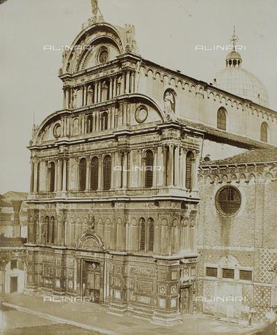 FVQ-F-040204-0000 - Façade of the Chuch of San Zaccaria, Venice - Data dello scatto: 1855 ca. - Archivi Alinari, Firenze