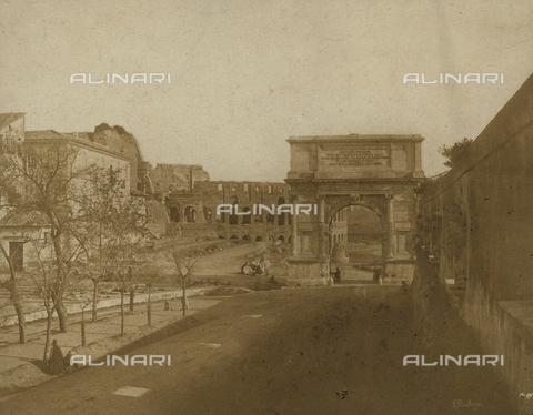 FVQ-F-040358-0000 - Veduta dell'Arco di Tito, Roma - Data dello scatto: 1848 - Archivi Alinari, Firenze