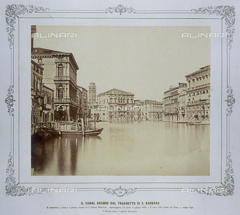 FVQ-F-043611-0000 - Venezia. Il Canal Grande dal traghetto di S.Barnaba - Data dello scatto: 1855 ca. - Raccolte Museali Fratelli Alinari (RMFA), Firenze