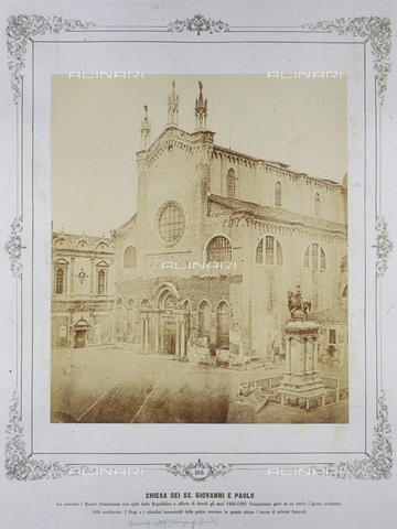 FVQ-F-043614-0000 - Venice. Church of Saints John and Paul - Data dello scatto: 1855 ca. - Archivi Alinari, Firenze
