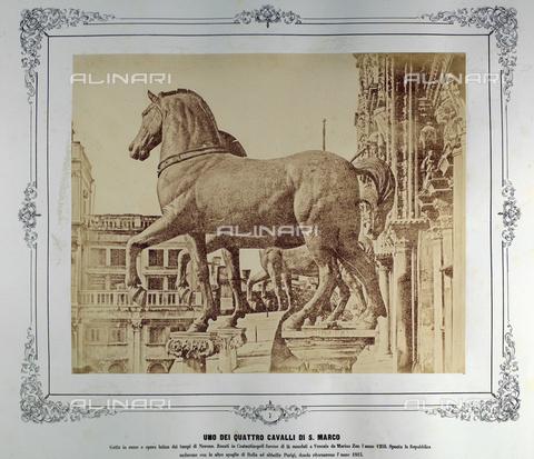 FVQ-F-043619-0000 - The four horses of San Marco, Venice - Data dello scatto: 1855 ca. - Archivi Alinari, Firenze