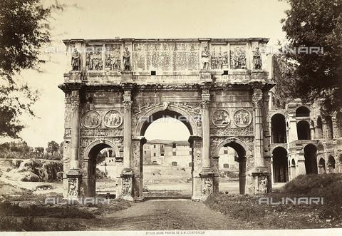 FVQ-F-043785-0000 - Veduta del lato sud dell'Arco di Costantino a Roma - Data dello scatto: 1855 ca. - Raccolte Museali Fratelli Alinari (RMFA), Firenze