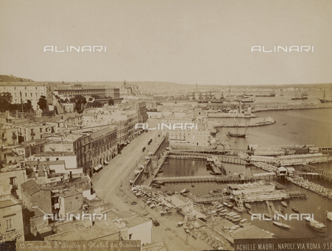 FVQ-F-044058-0000 - View of Santa Lucia in Naples - Date of photography: 1885 ca. - Fratelli Alinari Museum Collections, Florence