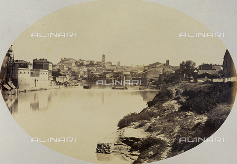 FVQ-F-045049-0000 - Veduta di Roma da Ripa Grande - Data dello scatto: 1857 ca. - Raccolte Museali Fratelli Alinari (RMFA), Firenze