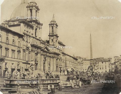 FVQ-F-045077-0000 - Piazza Navona a Roma - Data dello scatto: 1850 ca. - Archivi Alinari, Firenze
