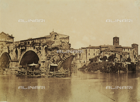 "FVQ-F-045105-0000 - Ponte Rotto (""Broken Bridge"") on the Tiburtine Island in Rome - Data dello scatto: 1850 ca. - Archivi Alinari, Firenze"