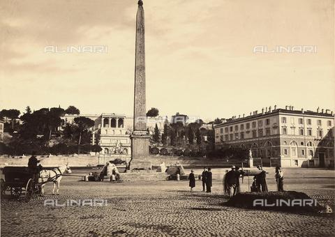 FVQ-F-046093-0000 - Roma. Piazza del Popolo - Data dello scatto: 1858 - 1865 - Raccolte Museali Fratelli Alinari (RMFA), Firenze