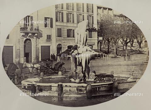FVQ-F-046119-0000 - Fontana del Tritone, Gian Lorenzo Bernini, Piazza Barberini, Roma - Data dello scatto: 1860 ca. - Raccolte Museali Fratelli Alinari (RMFA), Firenze