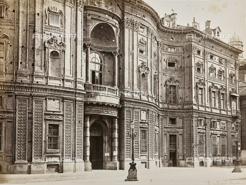 FVQ-F-047927-0000 - Palace of the Princes of Carignano, Torino - Data dello scatto: 1870 ca. - Archivi Alinari, Firenze
