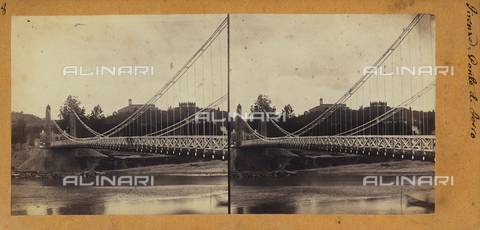 FVQ-F-048224-0000 - Iron bridge, Florence.  Stereoscopic photograph - Data dello scatto: 1860-1870 ca. - Archivi Alinari, Firenze