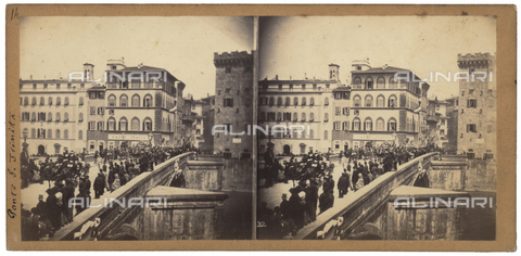 FVQ-F-048225-0000 - Porta Santa Trinita, Florence.  Stereoscopic photograph - Data dello scatto: 1860-1870 ca. - Archivi Alinari, Firenze