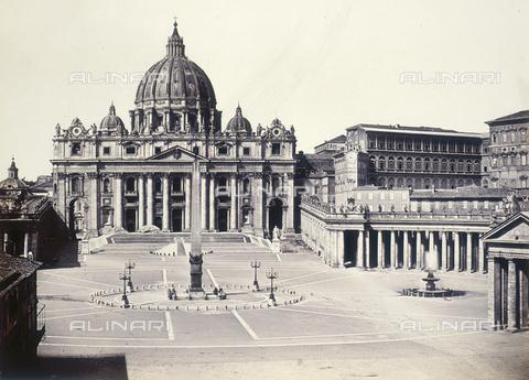 FVQ-F-054509-0000 - Roma. La Basilica di San Pietro - Data dello scatto: 1855 ca. - Raccolte Museali Fratelli Alinari (RMFA), Firenze