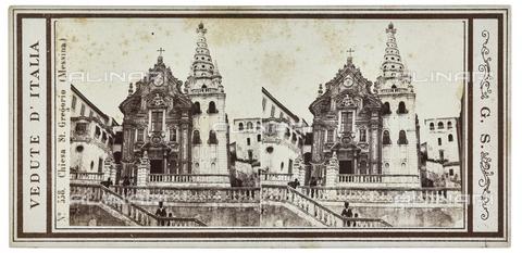FVQ-F-057748-0000 - The Church of San Gregorio, destroyed by the 1908 earthquake, Messina; Stereoscopic photograph - Data dello scatto: 1880-1890 - Archivi Alinari, Firenze