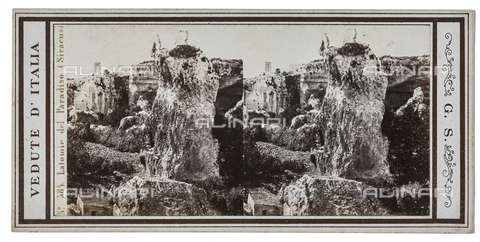 FVQ-F-057749-0000 - Latomia del Paradiso, Syracuse. Stereoscopic image - Date of photography: 1880-1890 - Fratelli Alinari Museum Collections, Florence