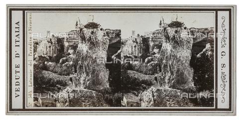 FVQ-F-057749-0000 - Latomia del Paradiso, Syracuse. Stereoscopic image - Data dello scatto: 1880-1890 - Archivi Alinari, Firenze