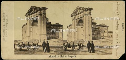 FVQ-F-061433-0000 - Il Triclinio Lateranense in piazza San Giovanni in Laterano, a Roma - Data dello scatto: 1857-1860 - Archivi Alinari, Firenze