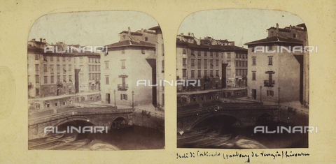 FVQ-F-061512-0000 - Bridge of Porticciolo (Little Venice), Livorno.  Stereoscopic photograph - Data dello scatto: 1860-1870 ca. - Archivi Alinari, Firenze
