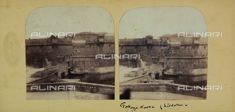 FVQ-F-061514-0000 - View of the Medici fortress, port of Livorno. Stereoscopic photograph - Data dello scatto: 1860-1870 ca. - Archivi Alinari, Firenze