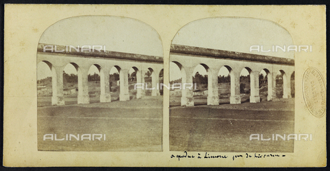 FVQ-F-061516-0000 - View of the Acquedotto Leopoldino, known as Acquedotto di Colognole, near Livorno; Stereoscopic photograph - Data dello scatto: 1860-1870 - Archivi Alinari, Firenze