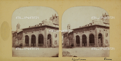 FVQ-F-061518-0000 - La Gabella or Old Customs at the corner of Via San Giovanni and Piazza Grande in Livorno. Stereoscopic photography - Data dello scatto: 1860-1870 ca. - Archivi Alinari, Firenze