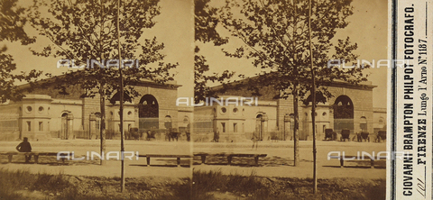 FVQ-F-061523-0000 - The Leopolda Station, Florence.  Stereoscopic photograph - Data dello scatto: 1860 ca. - Archivi Alinari, Firenze