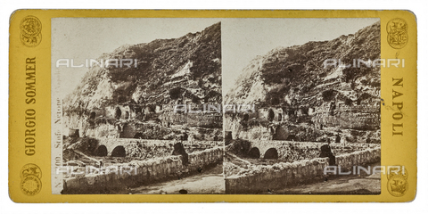 FVQ-F-062955-0000 - Stufe di Nerone also called Tritoli's Bath. Stereoscopic image - Data dello scatto: 1880-1890 - Archivi Alinari, Firenze