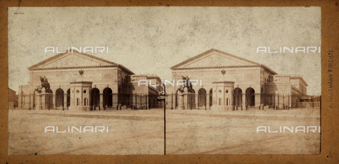 FVQ-F-062998-0000 - Palace seat of the National Exhibition in Florence, stereoscopic photography - Data dello scatto: 1860-1870 - Archivi Alinari, Firenze