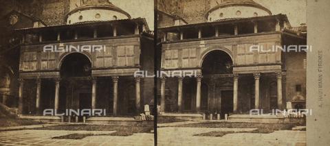 FVQ-F-062999-0000 - La Cappella de' Pazzi, Firenze. Fotografia stereoscopica - Data dello scatto: 1860-1870 ca. - Raccolte Museali Fratelli Alinari (RMFA), Firenze