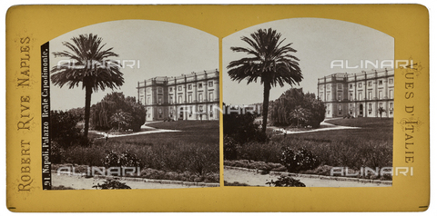 FVQ-F-064673-0000 - View of the Royal Palace of Capodimonte in Naples. Stereoscopic image - Data dello scatto: 1880-1890 - Archivi Alinari, Firenze