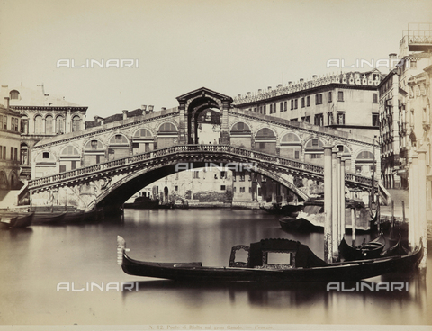 FVQ-F-069224-0000 - View of the Grand Canal with the Ponte di Rialto, Venice - Data dello scatto: 1865-1875 - Archivi Alinari, Firenze