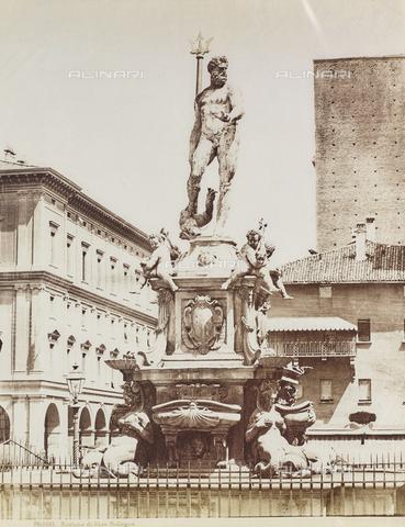 FVQ-F-077391-0000 - Fountain of Neptune, Giambologna, Jean Boulogne said (1529-1608), Piazza del Nettuno, Bologna - Data dello scatto: 1870-1880 - Archivi Alinari, Firenze