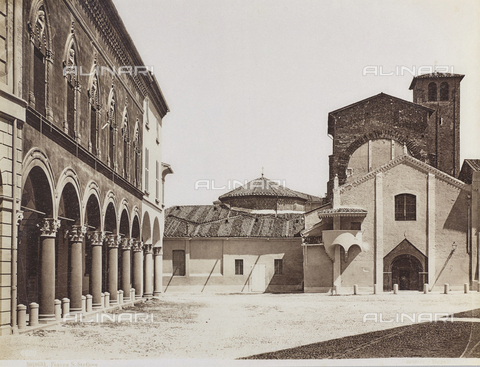 FVQ-F-077397-0000 - Piazza Santo Stefano, Bologna - Date of photography: 1870-1880 - Fratelli Alinari Museum Collections, Florence