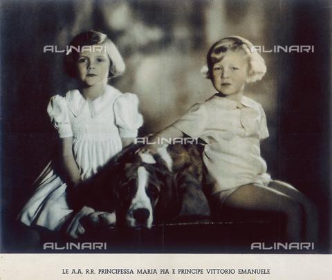 FVQ-F-079110-0000 - La Principessa Maria Pia di Savoia e il Principe Vittorio Emanuele di Savoia - Data dello scatto: 1940 ca. - Archivi Alinari, Firenze