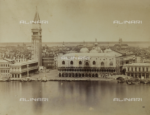 FVQ-F-079353-0000 - Panorama of Venice from the Island of San Giorgio, with the Bell Tower of San Marco and the Palazzo Ducale - Data dello scatto: 1865-1875 - Archivi Alinari, Firenze