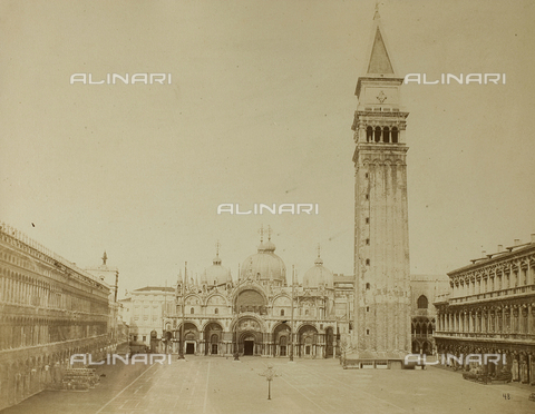 FVQ-F-079354-0000 - View of Piazza San Marco with the Basilica and the Bell tower, Venice - Data dello scatto: 1865-1875 - Archivi Alinari, Firenze