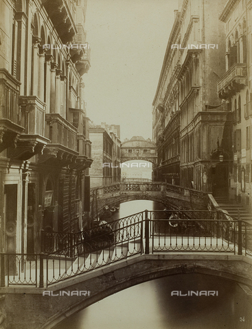 FVQ-F-079355-0000 - The Ponte dei Sospiri (Bridge of Sighs) seen from the Ponte del Rèmedio, Venice - Data dello scatto: 1865-1875 - Archivi Alinari, Firenze