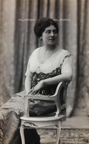 FVQ-F-082128-0000 - Portrait of the Italian actress Alfonsina Pieri - Date of photography: 1910-1920 - Fratelli Alinari Museum Collections, Florence