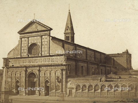 FVQ-F-084105-0000 - The church of Santa Maria Novella in Florence - Date of photography: 1860 ca. - Fratelli Alinari Museum Collections, Florence
