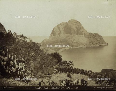 FVQ-F-091415-0000 - Veduta di Capo Zafferano da Solunto, Palermo - Data dello scatto: 1885 ca. - Raccolte Museali Fratelli Alinari (RMFA), Firenze