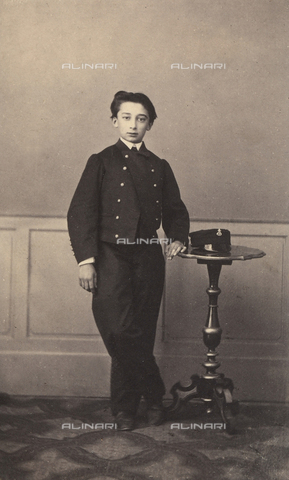 FVQ-F-104022-0000 - Portrait of a standing youth - Date of photography: 1865 ca. - Fratelli Alinari Museum Collections, Florence