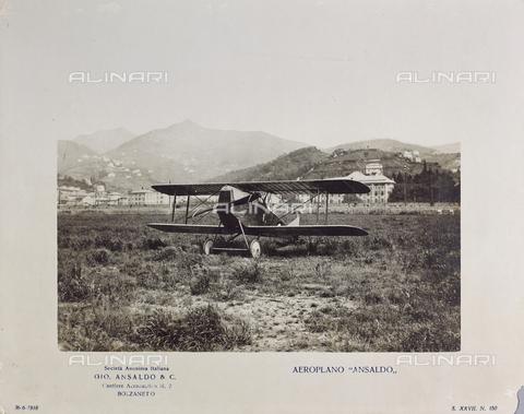 "FVQ-F-107305-0000 - ""Ansaldo"" airplane of the Aeronautical Shipyard of Bolzaneto - Date of photography: 26/06/1918 - Fratelli Alinari Museum Collections, Florence"