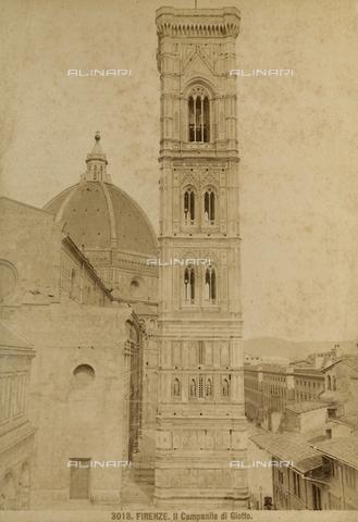 FVQ-F-107519-0000 - Il Campanile di Giotto in Piazza del Duomo a Firenze - Data dello scatto: 1890 ca. - Archivi Alinari, Firenze