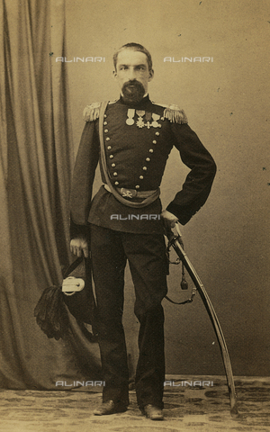FVQ-F-107624-0000 - Portrait of the Colonel Corte - Date of photography: 1860 ca. - Fratelli Alinari Museum Collections, Florence