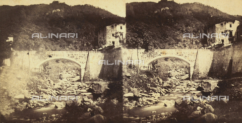 FVQ-F-108245-0000 - Bridge to Bagni di Lucca.  Stereoscopic photograph - Data dello scatto: 1860-1870 ca. - Archivi Alinari, Firenze