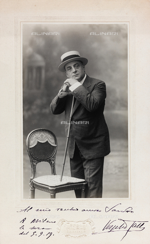 FVQ-F-116541-0000 - Portrait with dedication and autograph of the Italian actor Virgilio Talli (1858-1928) - Date of photography: 1915 ca. - Fratelli Alinari Museum Collections, Florence