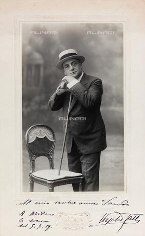 FVQ-F-116541-0000 - Portrait with dedication and autograph of the Italian actor Virgilio Talli (1858-1928) - Data dello scatto: 1915 ca. - Archivi Alinari, Firenze