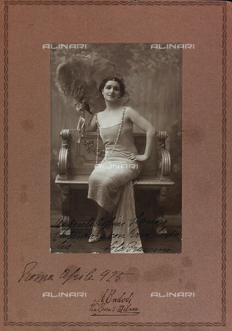 FVQ-F-116581-0000 - Portrait of the Italian actress Lola Braccini - Date of photography: 1920-1925 - Fratelli Alinari Museum Collections, Florence