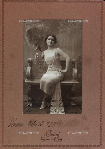 FVQ-F-116581-0000 - Portrait of the Italian actress Lola Braccini - Data dello scatto: 1920-1925 - Archivi Alinari, Firenze